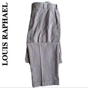 🔴5/$30 Louis Raphael Rosso Pleated Dress Pants